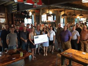 100 Men and Epilepsy Durham cheque presentation