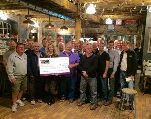 Cheque presentation $3,600 to Durham Children's Aid Foundation
