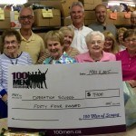 Cheque presentation Operation Scugog