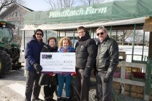 WindReach Farms cheque presentation