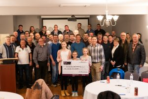 Port Perry Hospital Foundation Cheque group