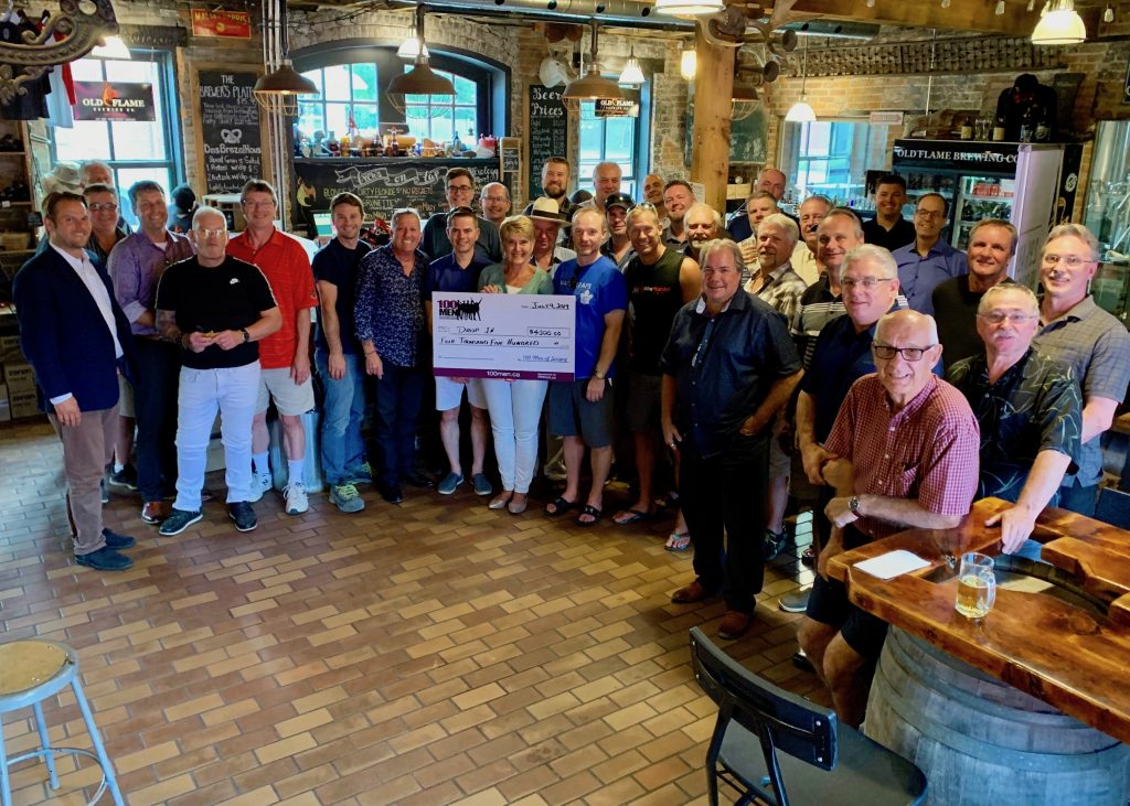 Port Perry Youth Drop In Centre cheque presentation
